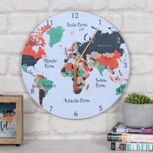 Часовник карта на света