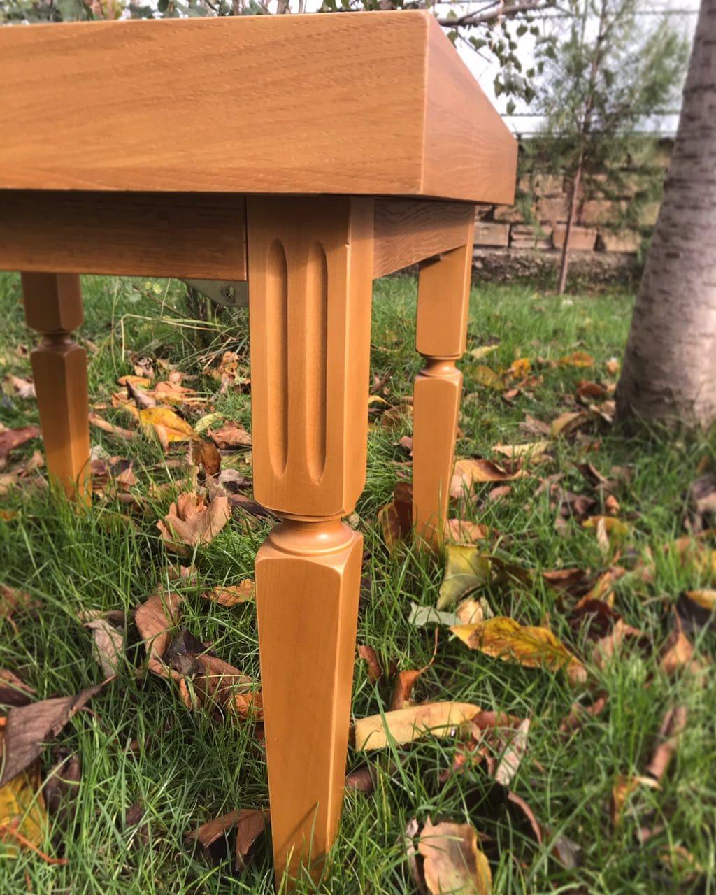 дървена маса за шах