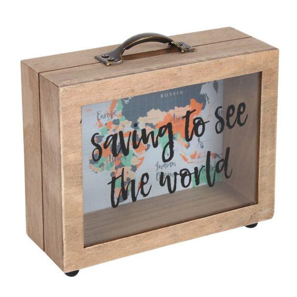 касичка спестявам за да видя света