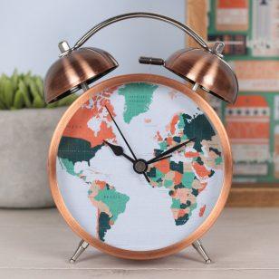 будилник карта на света