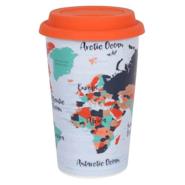 керамична чаша Карта на Света