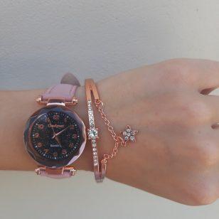 Елегантен дамски сет часовник и гривна