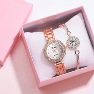 дамски часовник и гривна