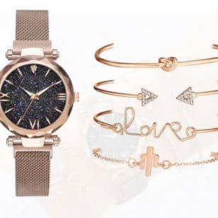 комплект часовник и 5 гривни