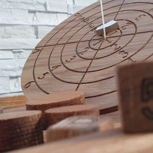 дървена игра баланс-контрол