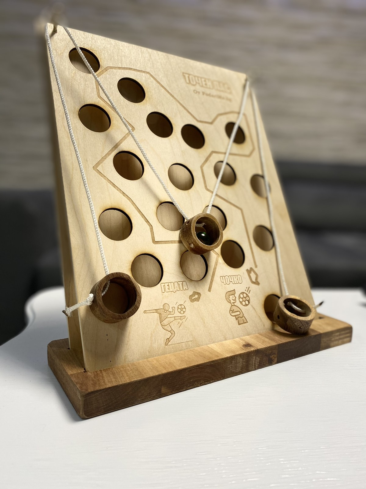 дървена игра точен пас